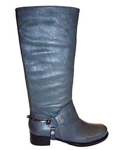 Cafe Noir Damen Stiefel Leder LL 200 grau Grau