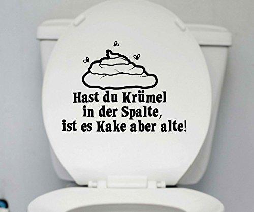 WC Deckel Aufkleber 25x18cm Krümel Bad Toiletten Tattoo Badezimmer Sticker 1K210