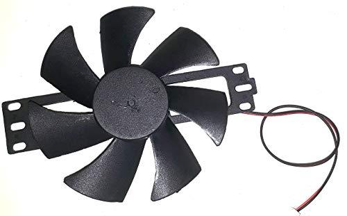 Electronicstek DC 18V Brushless Induction Cooktop Fan (Black)