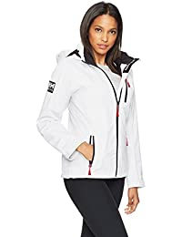 Helly Hansen W Crew Hooded Midlayer Chaqueta, Mujer, White, Large