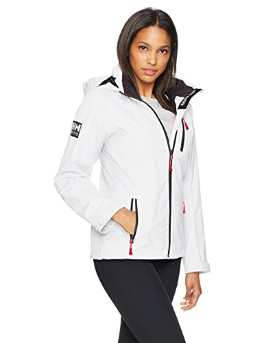 Helly Hansen Damen W Crew Hooded Midlayer Jacke, Weiß, L