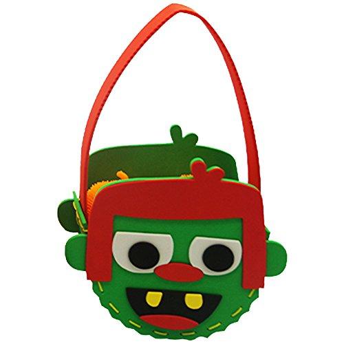 SpringPear® Teufel Handtasche Halloween Weihnachten DIY Tasche Süßigkeiten Beutel Mottoparty Dekoration Kinder Geburtstag Candy Bag Party (Eimer Candy Halloween)