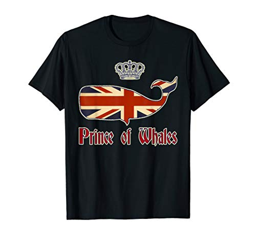 Prince of Whales Funny Political meme British Flag Crown T-Shirt - Crown Flag