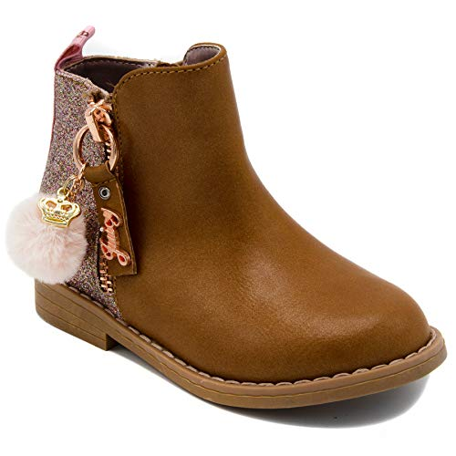 Juicy Couture Kids JC Napa Girls Two-Tone Zip-Up Ankle Boot