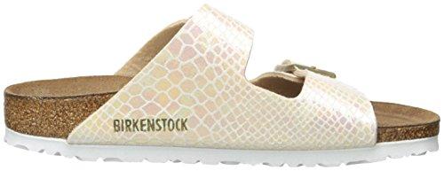 Birkenstock Arizona 252743, Unisex - Erwachsene Clogs & Pantoletten aus Birko-Flor Cream
