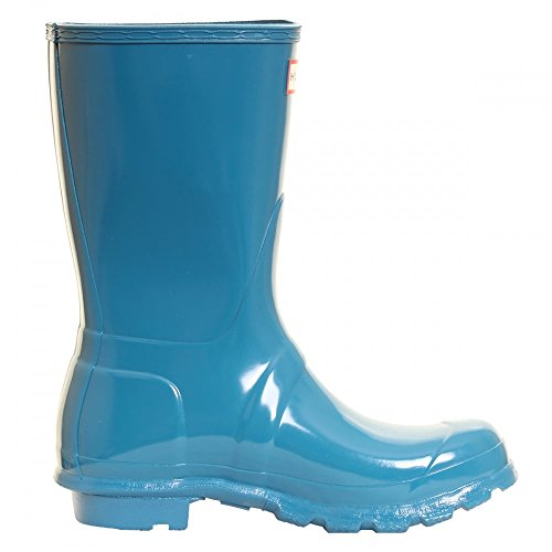 Hunter Womens Original Short Gloss Damen Gummistiefel Ocean Blue