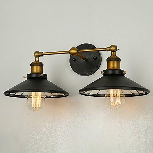 Retro-Gang-Lampe Bar Schlafzimmer Nachttischlampe Doppel-Kopf Spiegel Wandleuchte -