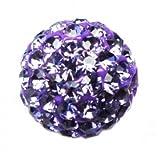 I-Beads Shamballa-Perle Rund Deluxe Tansanit 10 mm (1)