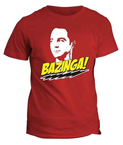 Tshirt Sheldon Bazinga - the big bang theory- in cotone by Fashwork