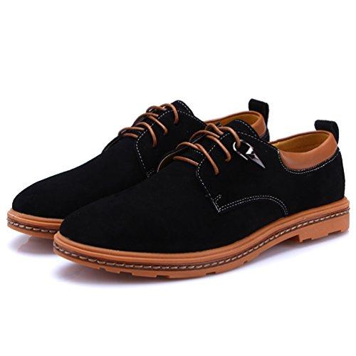 YiJee Hommes Loisir Chaussures Classique Mode Oxfords Chaussure Noir