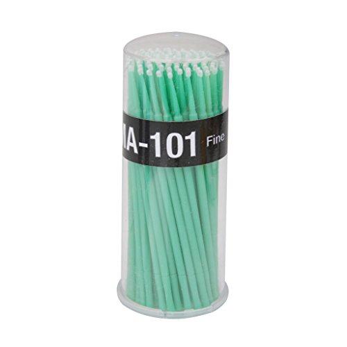 100pcs Coton-tige Brosse Micro Jetable Démaquillage pour Extension de Cils de Mascara - Vert