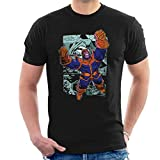 Marvel Comics Thanos Comis Strip Manches Courtes Hommes T-Shirt Noir X-Large