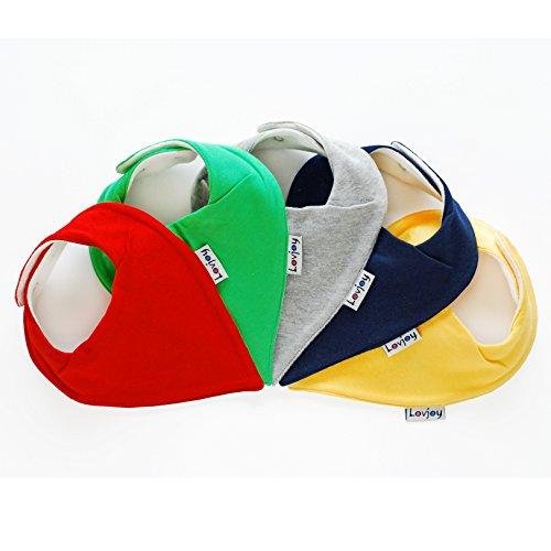 Lovjoy Bandana Baby Halstuch Lätzchen, Dreieckstucher, Für 0-3 Jahre, 5er Pack (Colour Rush)  - Für Bandana-lätzchen Baby