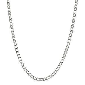 Sterling Silber 5.3mm Die Hälfte Runde Draht Panzerkette Armband–Länge Optionen: 151820