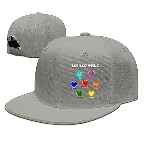 Hittings Undertale Colorful Hearts Soul Flat Bill Snapback Adjustable Travel Caps Hats Black Ash