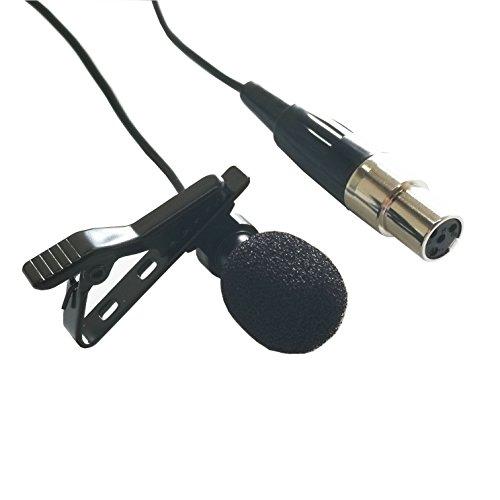 Samje Pro Condenser Lavalier Risvolto Clip su microfono a condensatore cardioide per Shure Wireless Transmitter Bodypack (Mini spina XLR a 4 pin)