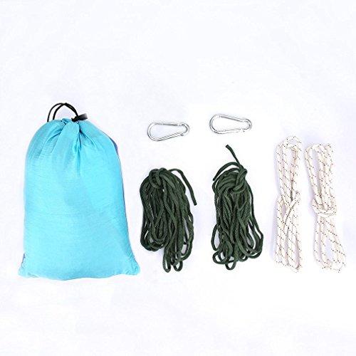 Gemütliche hochwertige Hängematte aus Fallschirmseide, bis 200 kg, 260 cm x 140 cm - 2