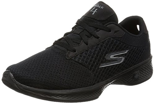 Skechers Women Gowalk 4-Exceed Low-Top Sneakers, Black (Bbk), 6 UK (39 EU)
