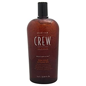 American Crew Firm Hold Haar Styling Gel, 1er Pack (1 x 1L)