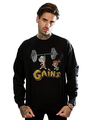 tones Herren Bam Bam Gains Distressed Sweatshirt XX-Large Schwarz ()