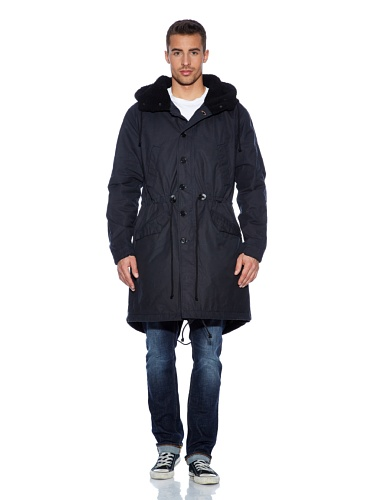 nudie-jeans-manteau-parka-homme-bleu-medium