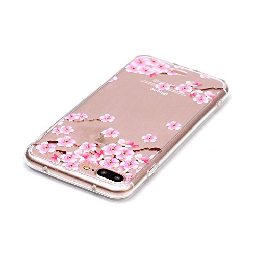 "iPhone 7 Plus Coque Case Souple Transparente TPU Etui de Protection pour Apple iPhone 7 Plus 5.5"" Joli image Motif Serie Ultra Mince Fine Poids léger - Avaler Color-6"