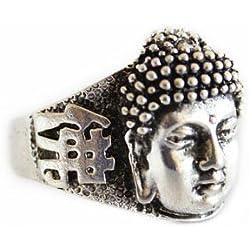 Anillo de plata con cabeza de Buda