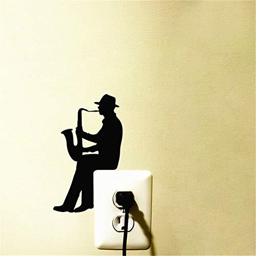 Alicefen Moderno saxofón música Vinilo Pegatina