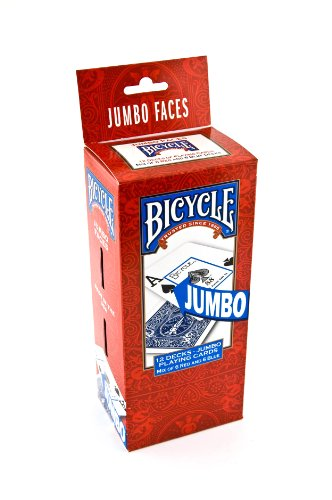 Preisvergleich Produktbild Bicycle Poker Size Jumbo Index Playing Cards (Pack of 12), Red/Blue by Bicycle