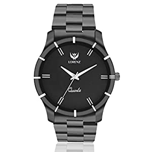 Lorenz Analogue Black Dial Men's Watch - Mk-1062A