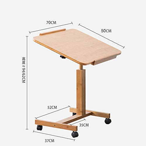 Inclinabile tavolino servitore per pazienti allettati con ruote,comodino rolling scrivania per laptop rolling tavolo portatile rooling stand altezza regolabile portatile stand desk carrello rotante-b