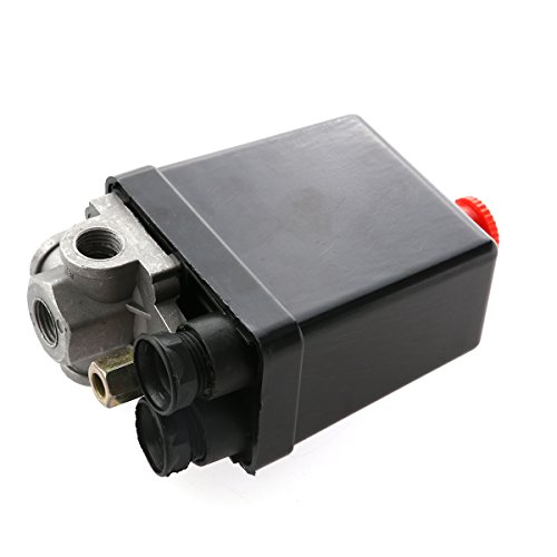 WINOMO - Interruptor para compresor de aire a presión, válvula de control 240V, CA 20A, 175PSI...
