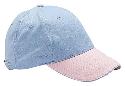 rocks-lane Kleidung EC30New 6Panel gebürstet Baumwolle Sandwich Peak Baseball Cap Blau Pink