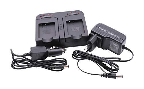 vhbw Schnellladegerät Ladegerät Ladeschale dual 2-Fach inkl Kfz für Akku NP-150 wie Pentax Optio WG-2 GPS. (Pentax Akku-ladegerät)