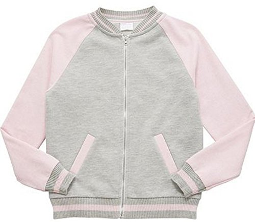 36949775d Kids' Coats & Jackets Baby's Quilted Bomber Jacket Varsity Toddler Bomber  Jacket Bomber Jacket Lace Bomber Jacket (9-10 Years, Grey & Pink 128-8920)  - Buy ...