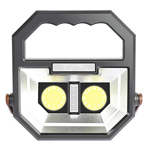 Super Hell Tragbare Baustrahler, 30W LED Arbeitsstrahler mit Tragegriff, Wasserdicht IP67 Mobile Power Flutlicht, 2 Schalter und 6 Lichtmodi, ideal zum Gebrauch im Baustelle -