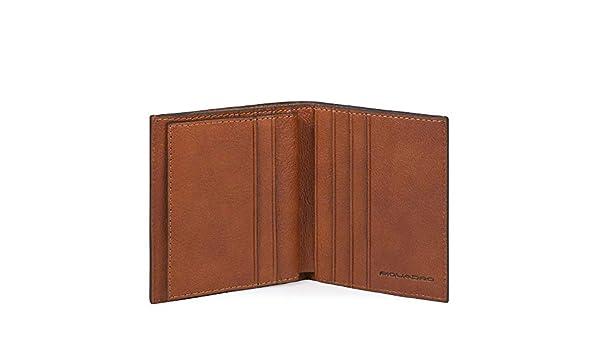 0.36 litri Piquadro Black Square Porta Carte di Credito con 8 Alloggiamenti per Carte di Credito Cuoio Tabacco 10 cm
