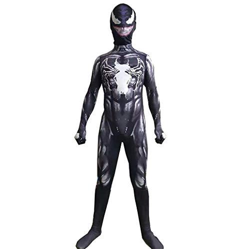 XIAOKEAI Kind, Erwachsener KostüM Venom Cosplay KostüM Erwachsener, Kind Spiderman Anime Strumpfhosen Cosplay (Venom Kind Kostüme)