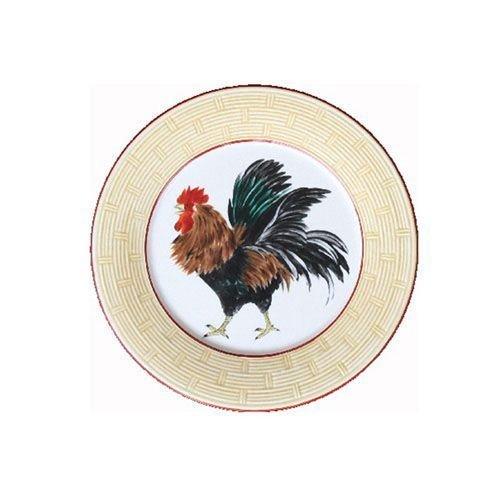 Faïencerie de Niderviller Assiette Plate Ronde Cour Normande Paille faïence - Lot de 4