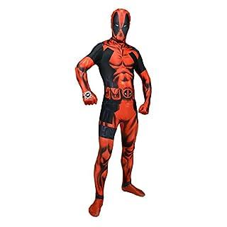 Offizieller Deadpool Delux Digital Morphsuit, Verkleidung, Kostüm - Medium - 5'-5'4 (150cm-162cm)