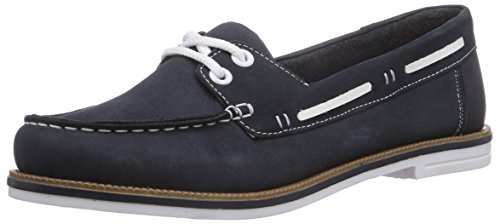 Rieker 45520, Damen Bootsschuhe, Blau (pazifik/weiss / 14), 38 EU (5 Damen UK)