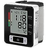 Hylogy Tensiómetro de Muñeca de Alta Exactitud, 2 * 90 Memorias, Posible para 2 Usuarios, Visible la Sistólica, Diastólica y Frecuencia del Pulso, Indicador de Latido Irregular del Corazón, Certificado por CE, FDA