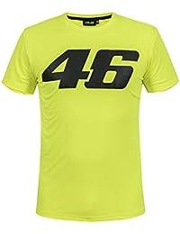 VR46 Camiseta oficial de San Valentín Rossi con logotipo grande, color amarillo amarillo amarillo extra