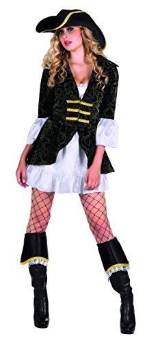 Boland- corsara costume donna per adulti, nero, s (36/38), 85043
