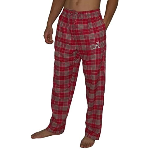 NCAA Mens Alabama Crimson Tide Fall / Winter Plaid Pajama Pants 2XL Red
