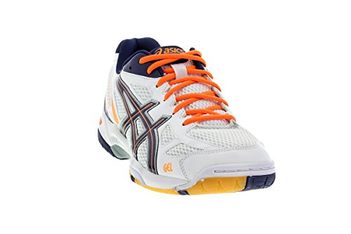 asics-gel-flare-5-men-herren-hallenschuhe-white-medieval-orange-b40pq-0152-schuhgrosse45