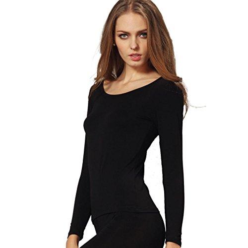 Liang Rou Women's Scoop Neck Ultra Thin Basic Long Sleeve Shirt