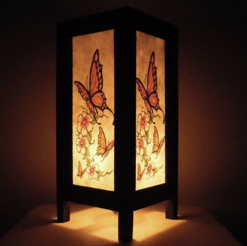 Butterfly Outdoor-dekor (Seltene Asiatische Orientalisch Vintage Möbel Thai handgefertigt Buddha Stil Lampe Nachttische Schön Schmetterling Zuhause Schlafzimmer Dekor Wohnkultur In Thailand)