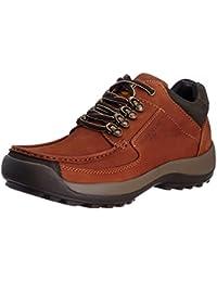 Franco Leone Men's Tan Leather Boots - 6 UK/India (40 EU)