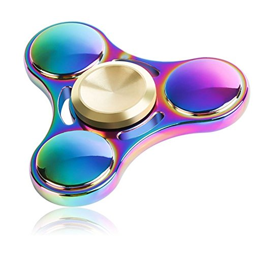 Hand Spinner Stress Relief Toy, coloré en alliage d'aluminium Spinner main Fidget Toy Réducteur de stress Made Bearing Focus Anxiety Relief Toys for Killing Time - 2